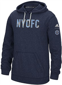 307b75cab New York City FC Heather Blue Adidas Tactical Block Ultimate Synthetic  Hoodie Sweatshirt