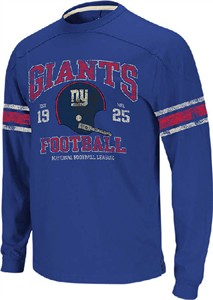 finest selection 9a27b bfe36 New York Giants 11 Royal Vintage Applique Long Sleeve Shirt ...