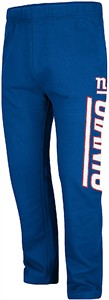 New York Giants Royal Just Getting Started Open Bottom Sweatpants
