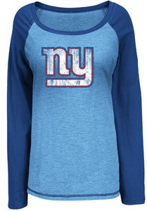 on sale 959c5 43f75 New York Giants Womens Sport Princess Long Sleeve NFL Shirt ...