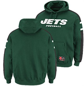 aa4b7b2f0 New York Jets Passing Game III Hooded Sweatshirt by Majestic