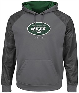 1459f2df7 New York Jets Storm Grey Armor 3 Pullover Synthetic Majestic Hoodie  Sweatshirt