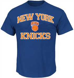 New York Knicks Royal Vintage Heart & Soul T Shirt by Majestic
