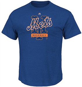 New York Mets First Among Equals Majestic Triple Peak Cotton Short Sleeve T Shirt