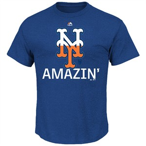 New York Mets Majestic Royal Back On Top Short Sleeve T Shirt