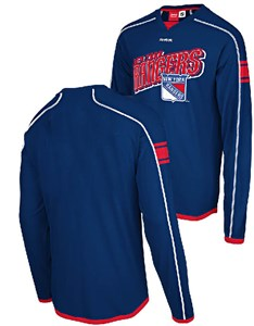 New York Rangers Blue Long Sleeve Jersey Shirt by Reebok