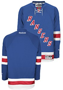 uk availability 4b214 71136 New York Rangers Premier Home NHL Hockey Jersey by Reebok ...