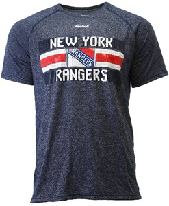 c665559c6 New York Rangers Reebok Heather Blue Name In Lights Synthetic Ultimate T  Shirt
