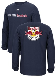 New York Red Bulls Adidas Navy 2 Sided MLS Primary One Long Sleeve T Shirt