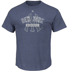 New York Yankees First Among Equals Majestic Triple Peak Cotton Short Sleeve T Shirt