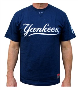 huge selection of 850c7 21ce2 New York Yankees MLB Embroidered Wordmark Short Sleeve Tee ...