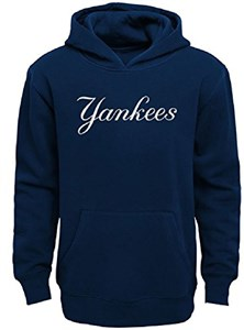 New York Yankees Youth Outerstuff Logo  Embroidered Hoodie Sweatshirt