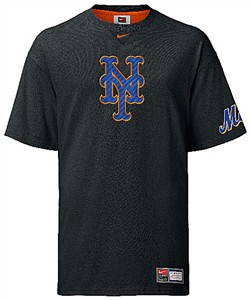 New York Mets MLB Tackle Twill Embroidered Short Sleeve Tee Shirt By Nike Team Sports