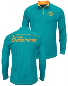 cd76fcde9 NFL Miami Dolphins Aqua Quarter Zip Ready   Willing Thermabase Synthetic  Jacket