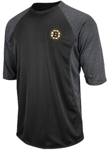 NHL Boston Bruins Featherweight Therma Base Tech 3/4 Sleeve Shirt by Majestic