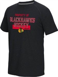 NHL Chicago Blackhawks Reebok Common Property Short Sleeve T Shirt