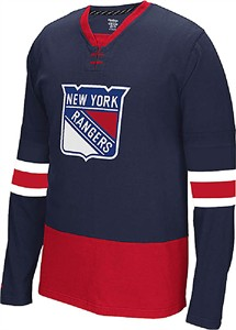 timeless design 2c9ed 3cf4b NHL New York Rangers Mens Face Off Jersey Long Sleeve Tee ...