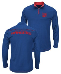 NHL New York Rangers Royal Quarter Zip Ready & Willing Thermabase Synthetic Jacket