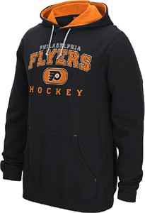 NHL Philadelphia Flyers Black Reebok 15 Playbook Hoodie Sweatshirt