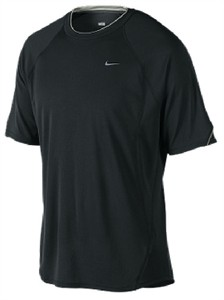 Nike Black Dri-FIT UV Essential Mens Running Shirt  88433c84d