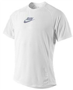 Nike Distance White Sublimated Dri-FIT Running Shirt For Men on Sale
