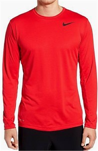 Nike Men's Red Pro Vent Dri-FIT Loose Long Sleeve Shirt on Sale