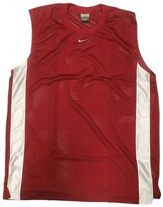 Nike Men's Red Varsity Mesh Sleeveless Basketball Activewear Top