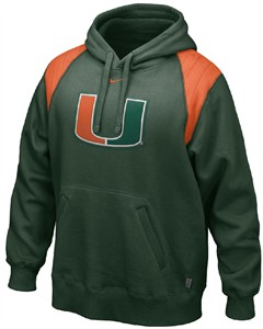 wholesale dealer 98b20 4ecfb Nike Miami Hurricanes Green Hands-To-The-Face Football ...