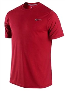 Nike Men's Red Foundation Short Sleeve Dri-Fit T Shirt on Sale