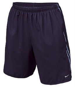 Nike Navy Dri Fit Microfiber Side Vent Reflective Running Shorts