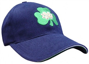 Notre Dame Fighting Irish Blue NCAA Fitted Sized Cap By Adidas