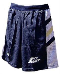 Notre Dame Fighting Irish 2008 College Navy Screen Printed Replica Basketball Shorts By Adidas