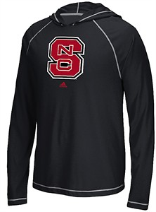 North Carolina State Wolfpack Adidas School Logo Ultimate Climalite Long Sleeve Hoodie T Shirt