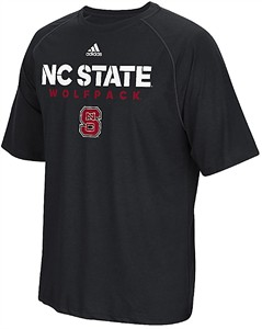 North Carolina State Wolfpack Black Sideline Fall 2017 Adidas Climalite Polyester Synthetic T Shirt