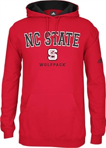 North Carolina State Wolfpack Embroidered Adidas Playbook 3 Mens Hooded Sweatshirt