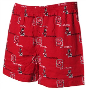 North Carolina State Wolfpack Mens Prospect Boxer Shorts by Concepts Sports