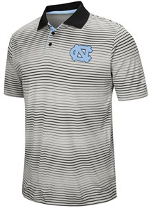 "North Carolina Tar Heels Men's ""Number One"" Striped Polyester Polo"