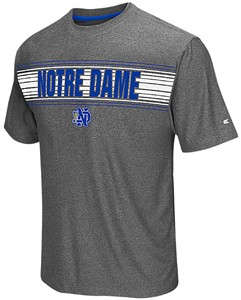 Notre Dame Fighting Irish Adult Grey Vandelay Synthetic Short Sleeve T Shirt on Sale