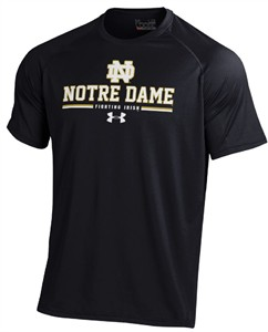 Notre Dame Fighting Irish Black Player-Tech Under Armour Short Sleeve Heatgear T Shirt on Sale