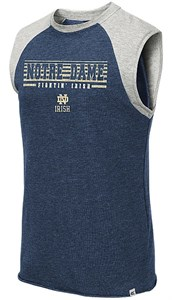 Notre Dame Fighting Irish Blue Quioto Sleeveless Terry Shirt