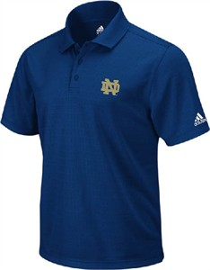 Notre Dame Fighting Irish Blue Touchdown Climalite Polo Shirt by Adidas