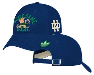 Notre Dame Fighting Irish Blue Tradition Slouch Fit Adjustable Cap by Adidas