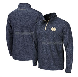 Notre Dame Fighting Irish Charcoal Heather Action Pass 1/4 Pullover Synthetic Windshirt