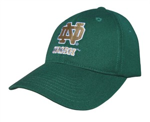 Notre Dame Fighting Irish Green NCAA Fitted Sized Cap By Adidas