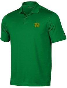 Notre Dame Fighting Irish Mens Kelly Green Performance Polo Shirt by Under Armour on Sale