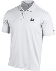Under Armour Notre Dame Fighting Irish Mens Navy Performance Polo Shirt