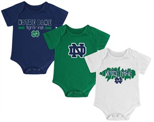 Notre Dame Fighting Irish Newborn & Infant Triple Play 3 Pack Bodysuit Set