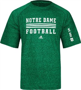 Notre Dame Fighting Irish Sidelines Evade Heather Kelly Climalite SS Shirt by Adidas on Sale