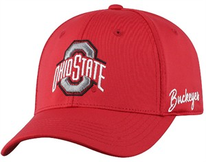 Ohio State Buckeyes Red 1 Fit Phenom Memory Fit Cap