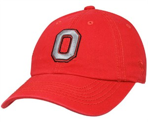 310ad1d22c826 Ohio State Buckeyes Red Relaxed Crown Crew Adjustable Hat